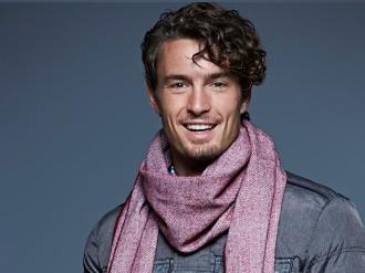 Мъжки шал с ресни
