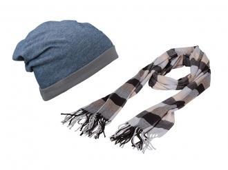 Зимен шал с шапка