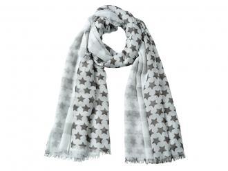 Многоцветен шал със звездички