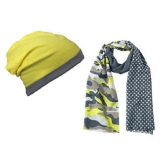 Камуфлажен шал с шапка