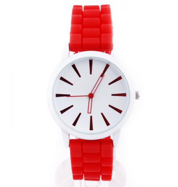 Червен дамски часовник