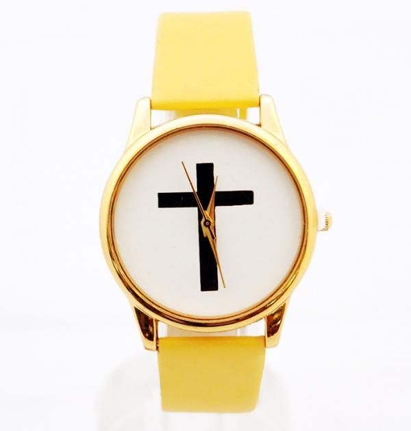 Жълт часовник с кръст