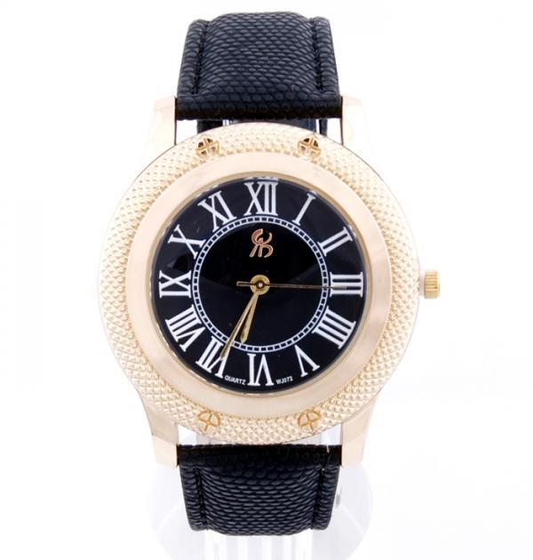 Елегантен часовник с черна каишка