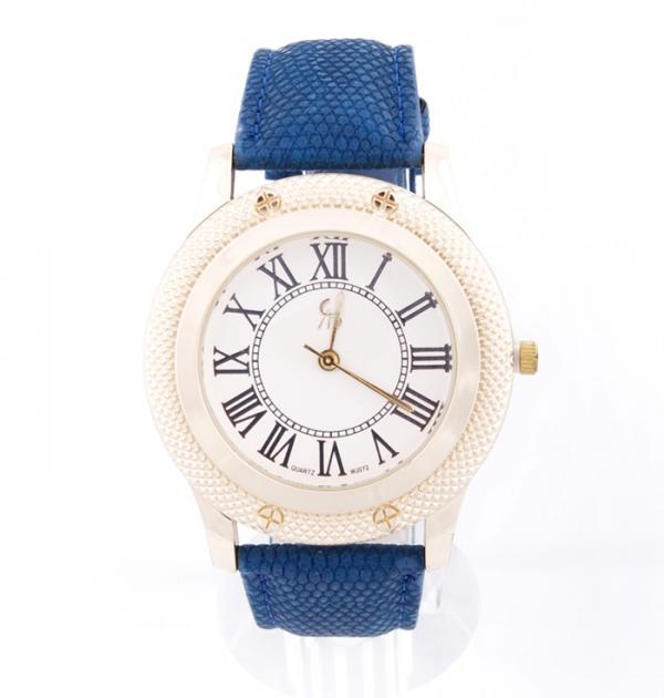 Елегантен часовник със синя каишка