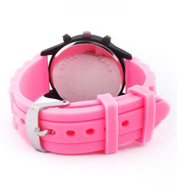 Спортен часовник с розова каишка