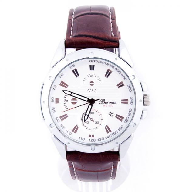 Мъжки часовник с кафява каишка