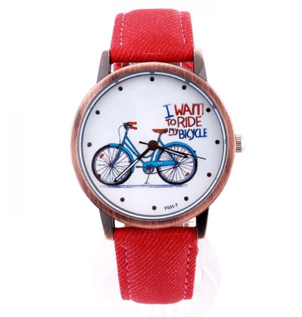 Червен часовник с колело