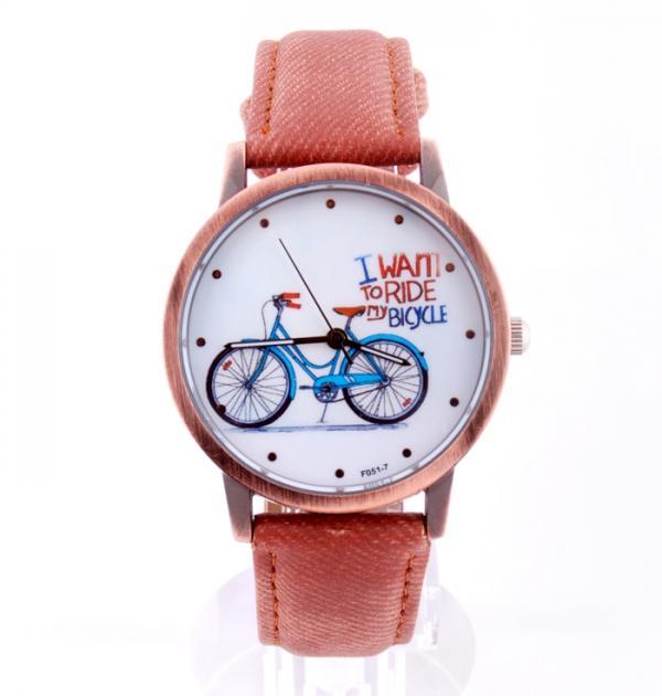 Кафяв часовник с колело