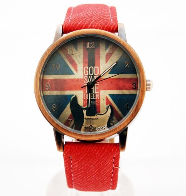 Червен часовник с британското знаме
