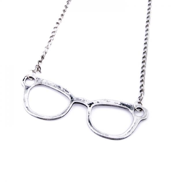 Колие Очила - Сребристи
