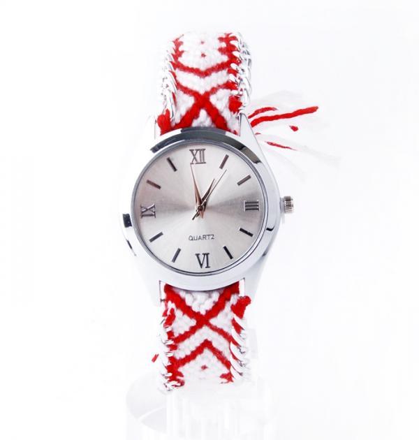 Плетен Часовник - Сребърен