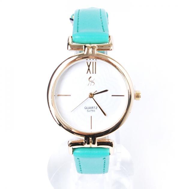 Дамски часовник с тюркоазена каишка