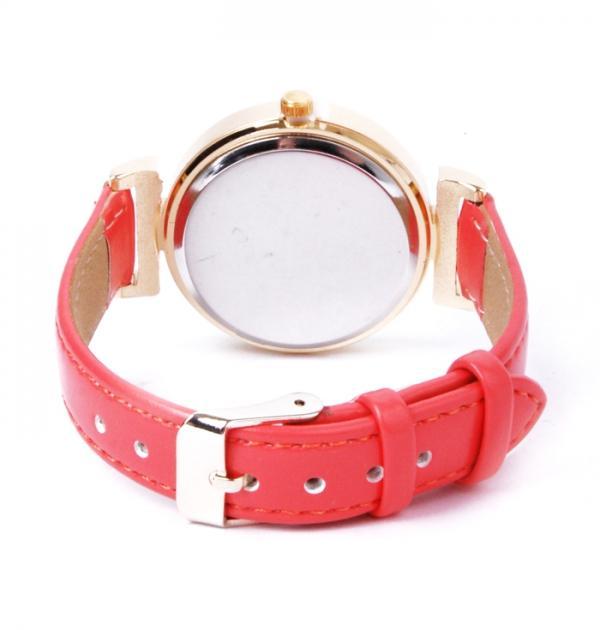 Дамски часовник с розова каишка