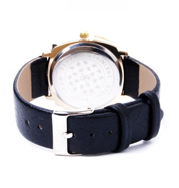 Стилен дамски часовник с черна каишка