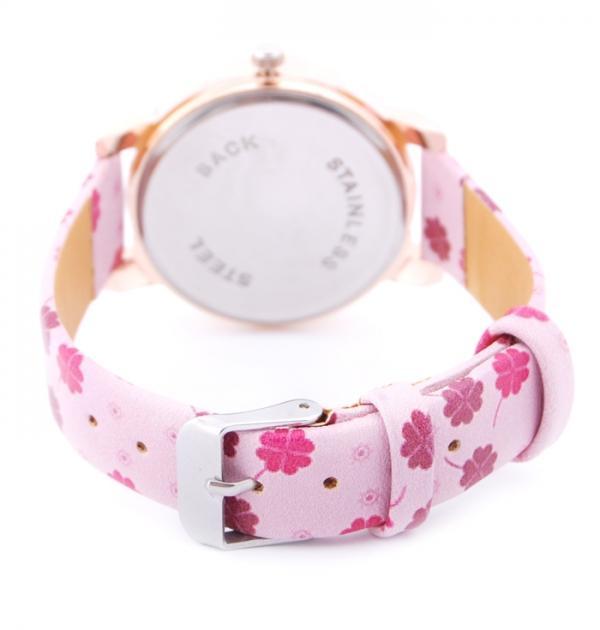 Розов часовник с детелини