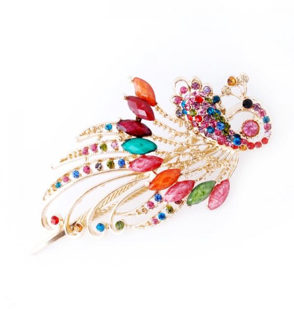 Шнола за коса с цветни камъни