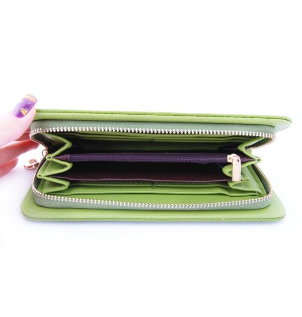 Зелено портмоне с цип