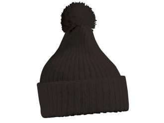 Шапка зимна плетена с пискюл